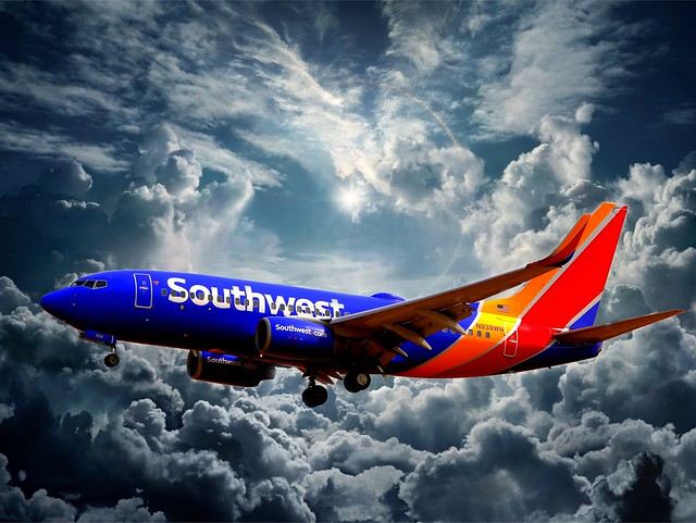 Southwest Airlines Boeing 737, Canon EOS 6D, Canon EF 70-200mm f/2.8L IS