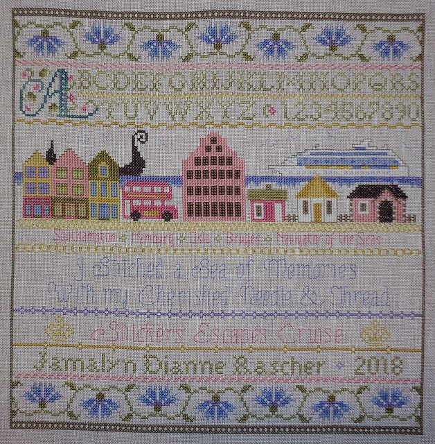 stitchers escape 2018 sampler