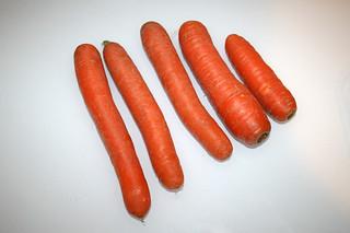 01 - Zutat Möhren / Ingredient carrots