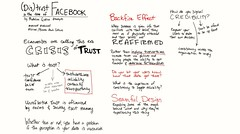 (Dis)trust in the Time of Facebook by Madeline Grdina @madgrds #eduiconf @edUiConf #libraryux #ux #sketchnotes #trustcrisis #uxtrust #uxdistrust