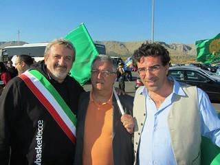 Flavio Oliva con Lomelo e Emiliano in una foto del 2015