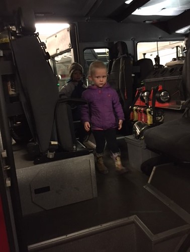 in the fire truck