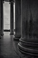 From inside the Thomas Jefferson Memorial in Washington D.C.