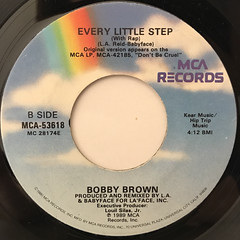 BOBBY BROWN:EVERY LITTLE STEP(LABEL SIDE-B)
