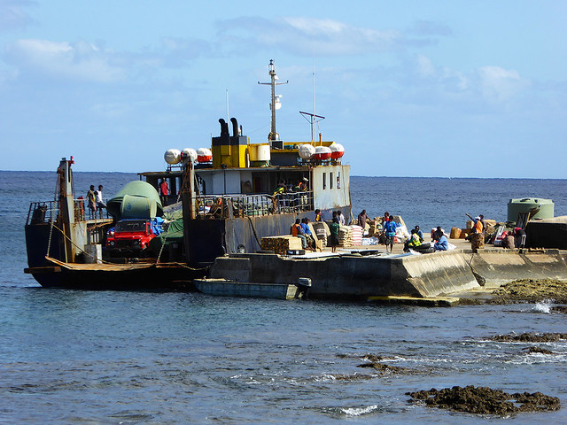 The Wharf at Lenakel, on Tanna Island is only able to provided limited transporatation of goods  to the island subsequent to disaster events.