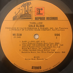 COLD BLOOD:THRILLER!(LABEL SIDE-A)