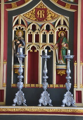 reredos: Blessed Virgin and St Paul