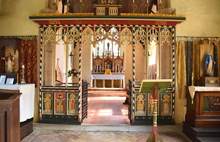 rood screen and altar beyond