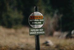 Warning - Natural Gas Pipeline - Xcel Energy
