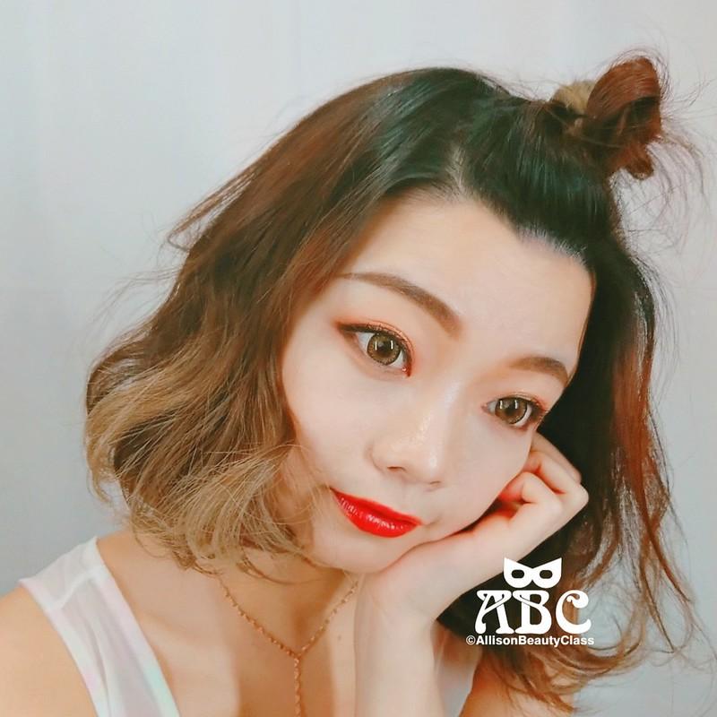 半丸子頭綁法丸子頭綁法日雜韓星髮型教學