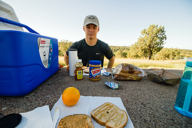 our first time camping together