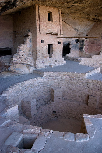 Balcony House, a cliff dwelling of the ancestral Pueblo people in Mesa Verde National Park in Colorado, USA