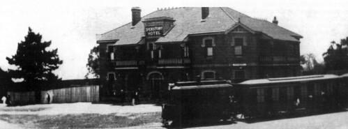 Steam Tram, Spears Point Hotel, Speers Point, NSW