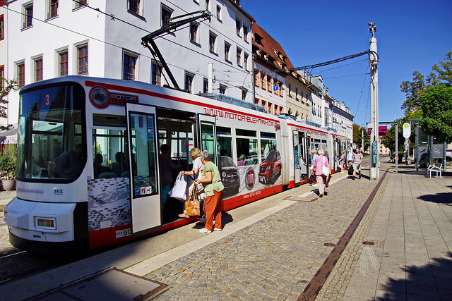 Straßenbahn in Zwickau, Sony SLT-A77V, Tamron 16-300mm F3.5-6.3 Di II PZD