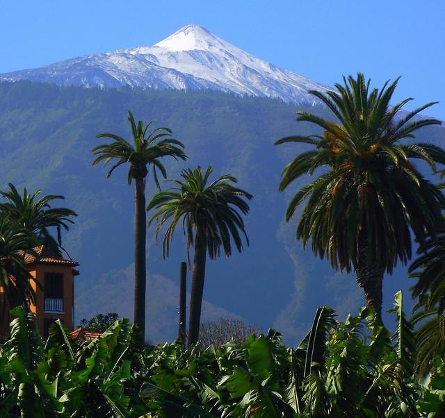 El teide tenerife volcano from puerto de la cruz