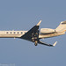 VP-BNE - 2004 build Gulfstream G550, on approach to Runway 23R at Manchester
