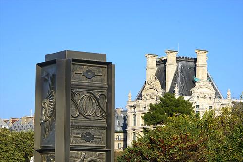 God Box d'Isabelle Cornaro dans le jardin des Tuileries (Paris)