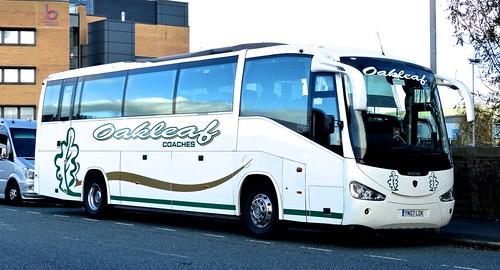YN07 LDK 'Oakleaf Coaches'. Scania K114EB4 / Irizar Century on 'Dennis Basfords railsroadsrunways.blogspot.co.uk
