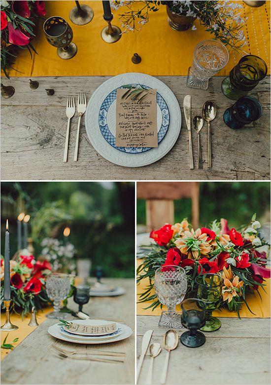 Weddings Flower Arrangements : table decor and menu ideas wedding chicks