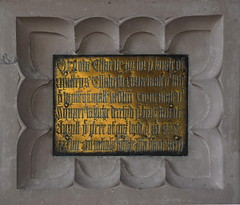 Of your charite pray for the soule of Mastrys Elizabeth Cornwaleys (reset brass, 1534)