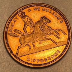 Risley and McCollum Hippodrome token obverse