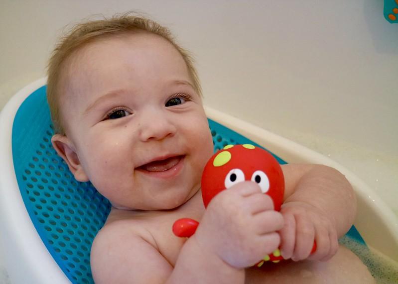 Reuben bath time