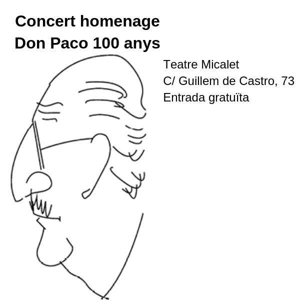 Foto 2018 09 28 Don Paco 100 anys Teatre Micalet