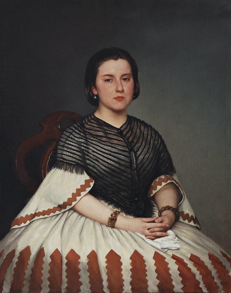 Prilidiano Pueyrredòn - Retrato de mujer joven