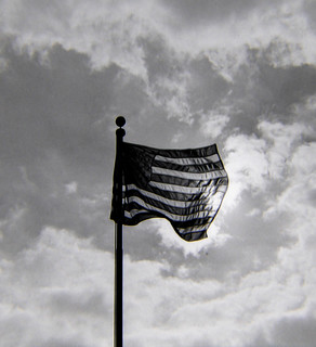 Old Glory on Film in Monochrome