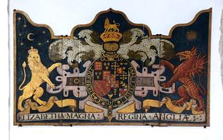 Elizabetha Magna Regina Angliae: 'royal arms' of Elizabeth I