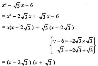 RD Sharma Class 9 Maths Book Questions Chapter 5 Factorisation of Algebraic Expressions