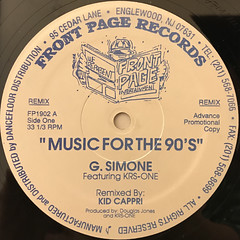 G. SIMONE:MUSIC FOR THE 90'S(LABEL SIDE-B)