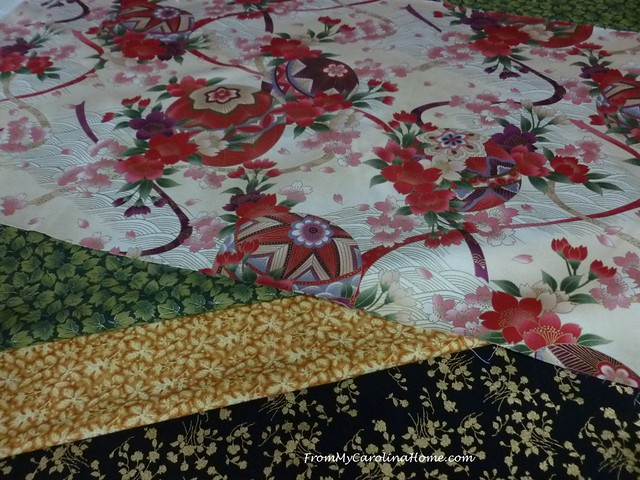 Asian Inspired Christmas Table Runner at From My Carolina Home