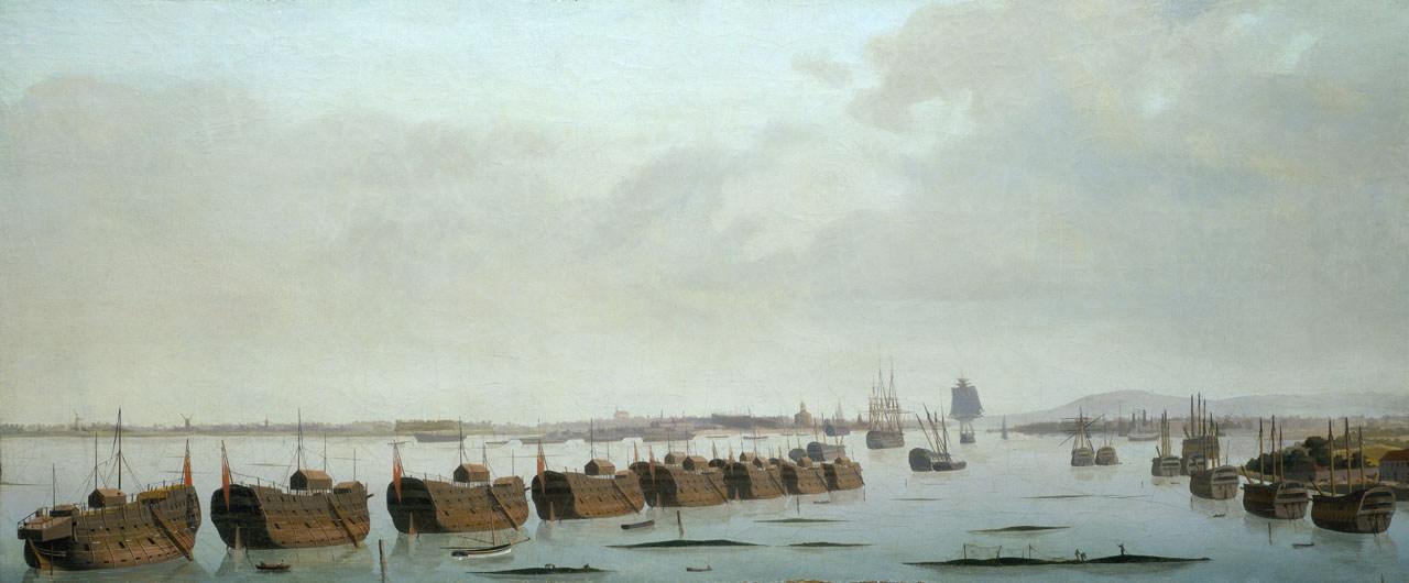 Prison hulks Portsmouth Harbour