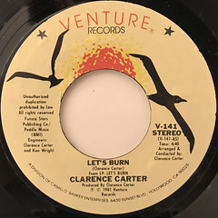 CLARENCE CARTER:LET'S BURN(LABEL SIDE-A)