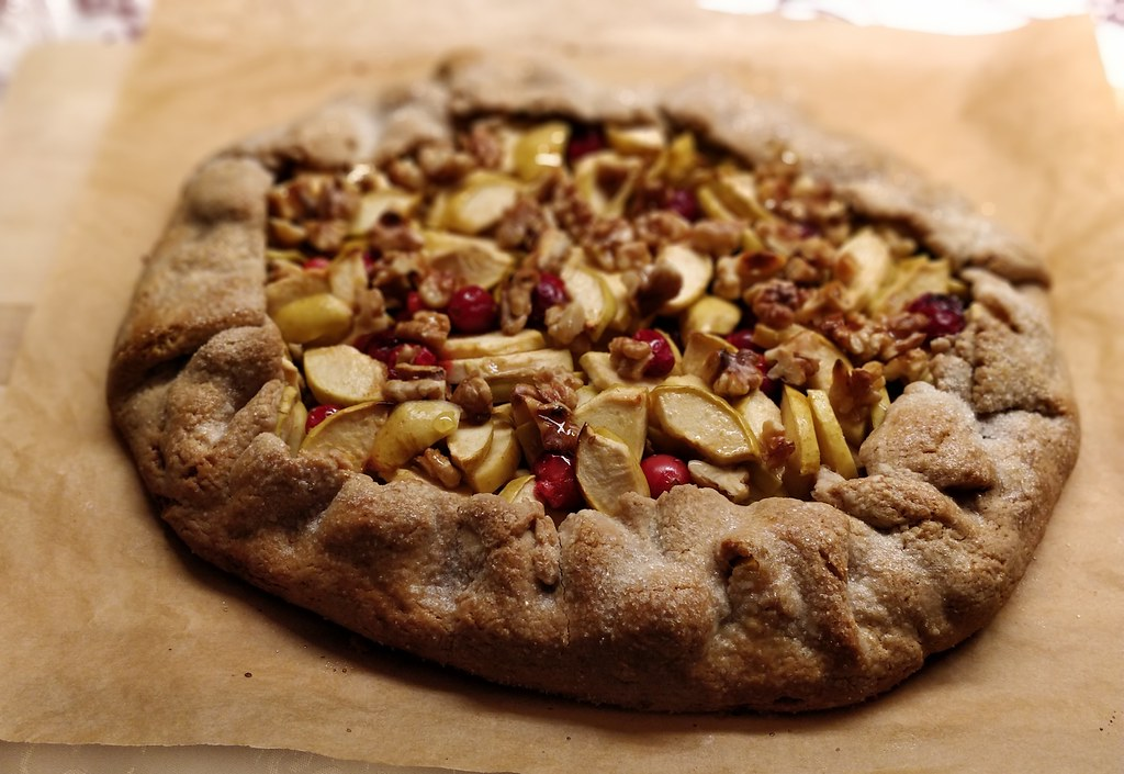 Apfel-Cranberry-Galette