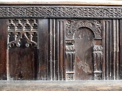 reused 15th Century and 17th Century panelling