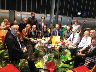 Members of the legacy delegation hosted by Martina Anderson at the European Parliament in Strasbourg.