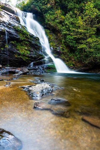 waterfall landscape north carolina nikon