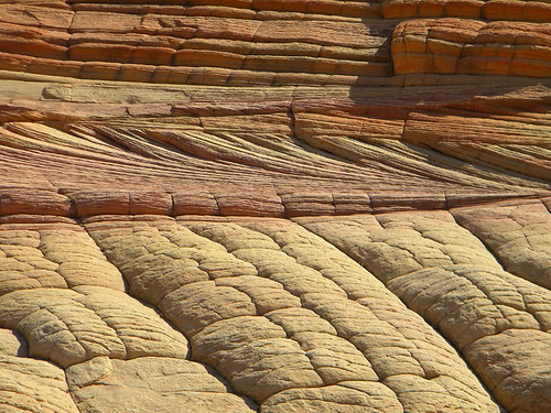 Pillow formations at 'The Wave' near the Utah/Arizona Borderlands, USA
