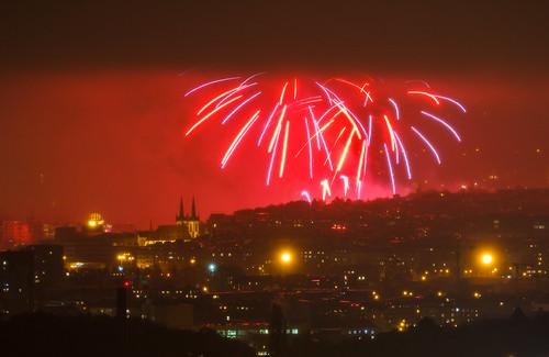 Ohňostroj ke 100. výročí Československa