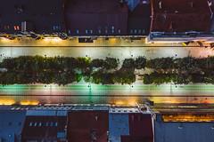 Freedom Avenue | Kaunas at night | Aerial