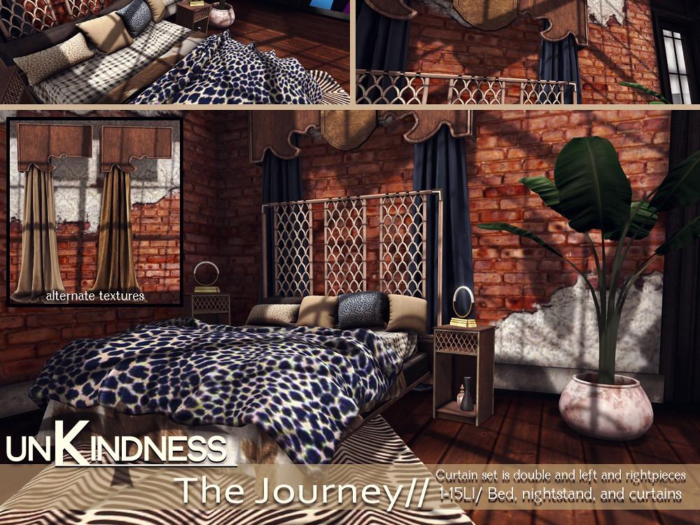 uK- The Journey Bedroom Set - FaMESHed - TeleportHub.com Live!
