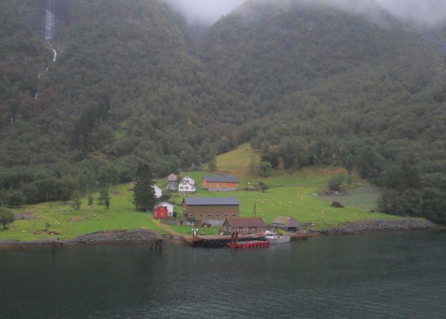 Houses, Nærøyfjord, Norway
