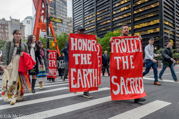 Indigenous Women's Delegation demands Chase to divest from fossil fuels