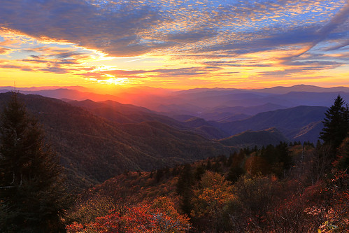 sunset waterrock knob blue ridge parkway north carolina