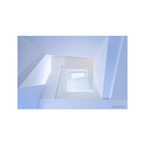 white stairway . . .