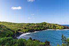 Waianapanapa black sand beach Maui Hawaii Road to Hana