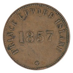 1857 Prince Edward Island Self Government Halfpenny reverse