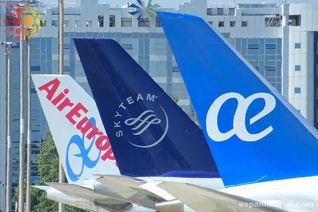 conexão com Air Europa no aeroporto de Madri Barajas